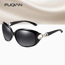 FUQIAN фирменный дизайн винтажные Поляризованные, большие солнцезащитные очки для женщин Роскошные большие овальные пластиковые женские очк...