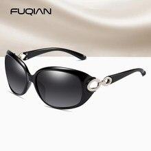 FUQIAN Enormes óculos Polarizados Óculos De Sol Das Mulheres de Luxo de Design Da Marca Do Vintage Grande De Plástico Oval Senhoras de Condução Sun Glassses UV400