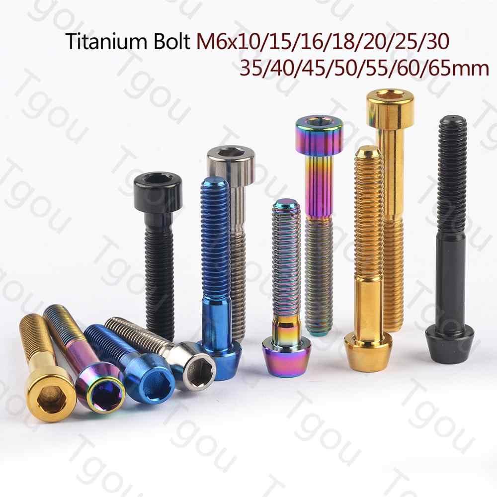 M5 Column Head Titanium Bolts 16 18 20 25 30 35 40 45 50 55 60mm Bicyles Ti Bolt