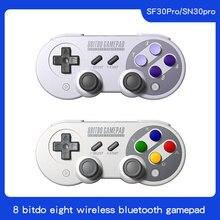 8 bitdo sn30 pro inalámbrica bluetooth gamepad controlador com joystick para windows android macos nintendo interruptor de vapor