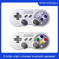 8BitDo SN30 Pro inalámbrica Bluetooth Gamepad controlador con Joystick para Windows Android macOS Nintendo interruptor de vapor