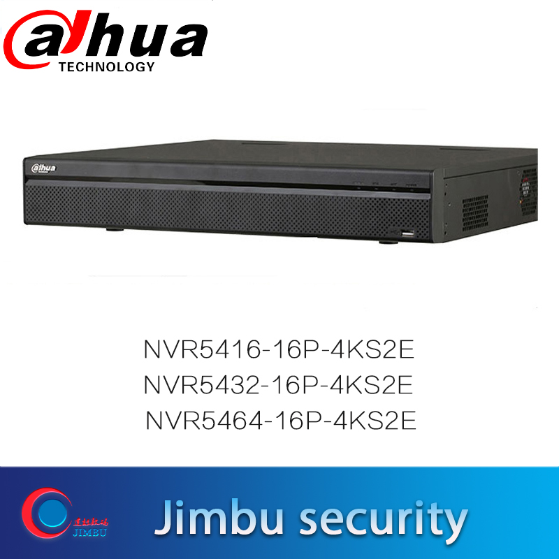 Dahua 4K H.265 NVR recorder 16CH 32CH 64CH NVR5416 16P 4KS2E NVR5432 16P 4KS2E NVR5464 16P 4KS2E 16PoE Up to 12MP Max 320Mbps-in Surveillance Video Recorder from Security & Protection    1