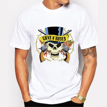 Famous rock band Guns N Roses guitarist slash Rock Men T Shirt Fashion New Short Sleeve T-shirt Tee Camisetas