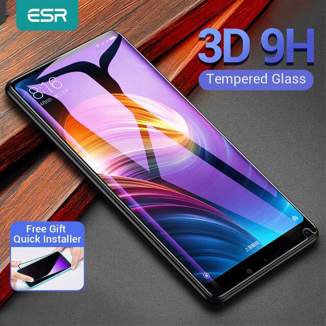 ESR pour Xiaomi Mi MIX 2 2S verre trempé Anti Blue ray couverture complète protecteur décran pour Xiaomi mi x 2s mix 3 mi 6 8 9 se 10 pro