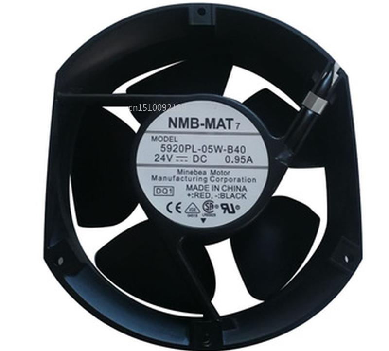 Free Shipping 5920PL-05W-B40 DQ1 DC 24V 0.95A 172x150x50mm 2-wire Server Cooler Fan