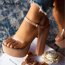 Aneikeh 2020 Fashion Platforms Gladiator Sandals Woman Peep