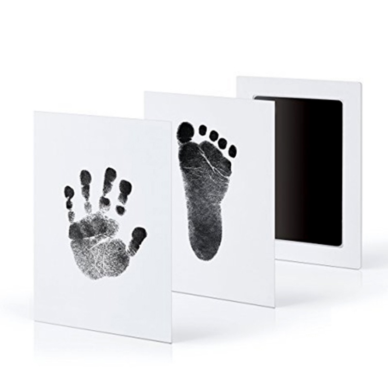 Baby Care Non-Toxic Baby Handprint Footprint Imprint Kit Baby Souvenirs Casting Newborn Footprint Ink Pad Infant Clay Toy Gifts