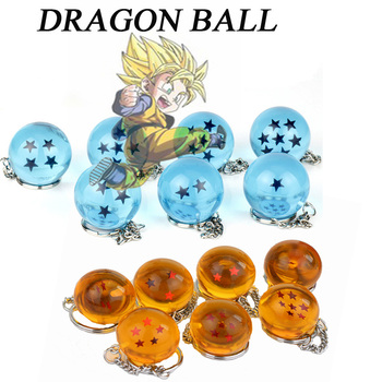 Cute Jewelry Trinkets Anime DIY Handmade Goku Dragon Ball Z Balls 1~7 Stars Keychain Pendant Key Chain Chaveiro Key Ring Chain