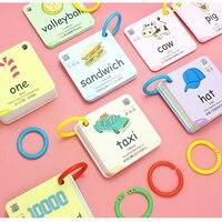 20 categorias/conjunto 300 pces crianças chinês & inglês cartão flash cartões de bolso cartão palavra educacional aprendizagem brinquedos para presentes das crianças