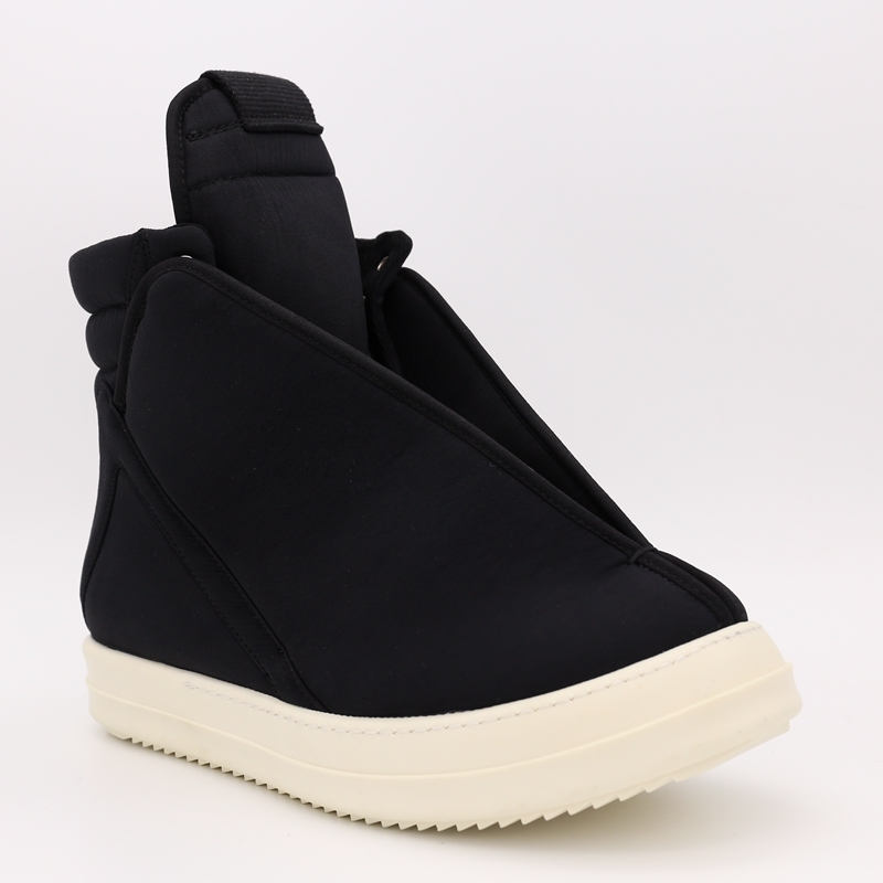 Man Footwear Designer Sneakers Cotton Fabric Winter Ankle Boots Casual Brand Zip High-Top Flats Shoes Plus Size Luxury Trainers