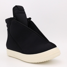 Man Footwear Designer Sneakers Cotton Fabric Winter Ankle Boots Casual Brand Zip