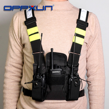 Green Tactical Harness Front Pack Bag Case Pouch Carry Holster for Kenwood Motorola TYT Baofeng Walkie Talkie Vest Rig Chest Bag