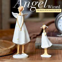 Urocza żywica europejska wioska anioł matka andcórka wróżka elfy dekoracja sklep wyświetlacz rekwizyty prezent ozdoby rzemiosło domowe