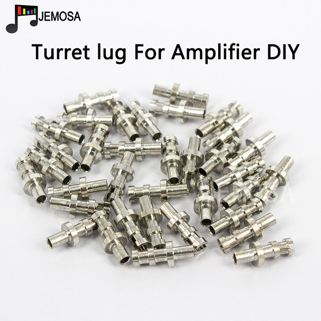 DIY Turret lug Project Audio Strip Tag Board Turret Board Terminal Lug For Tube Amplifier DIY Copper Plated Tin Slotted Turret