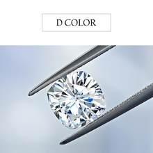 Szjinao – bague en diamant Moissanite 100%, pierre précieuse ample, couleur D, 8mm, 2,5ct, VVS1, pierre non définie, coupe coussin, pour bijoux