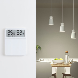 Image 2 - 2021 Original Xiaomi Mijia Smart Screen Display 3 Key Switch with Temperature and Humidity Sensor Work with Mi Home APP