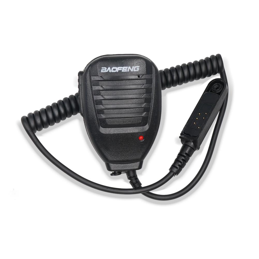 100% Original Waterproof Mic Microphone PTT Speaker Walkie Talkie Baofeng Hand Microphone For BF-9700 UV-9R PLUS S56 A58