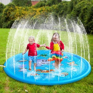 170cm Inflatable Spray Water Cushion Summer Kids Play Water Mat Lawn Games Pad Sprinkler Play Toys Outdoor Tub Swiming Pool(China)