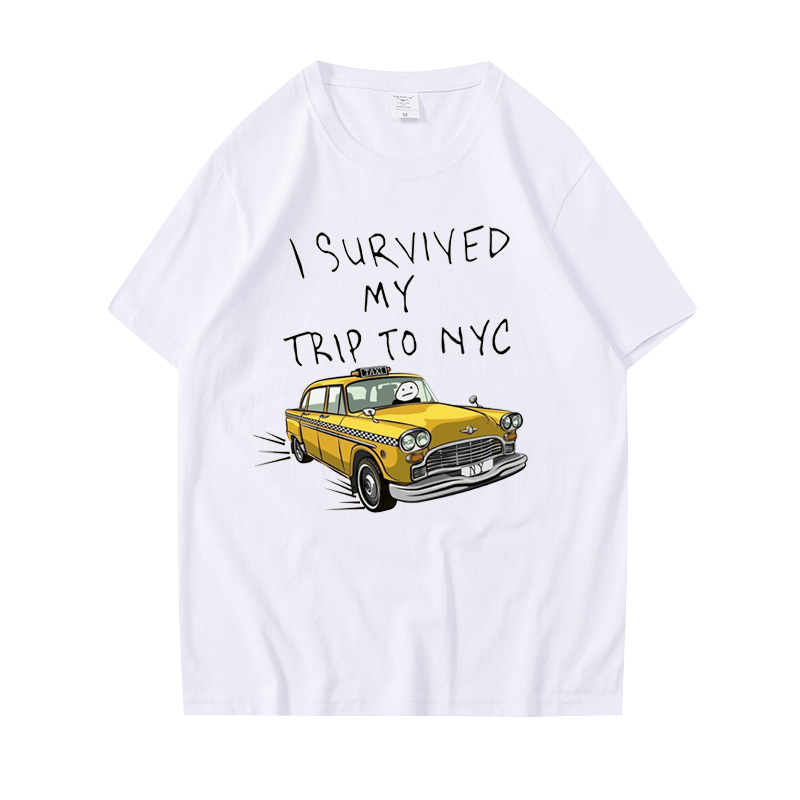 Tom Holland Same Style Tees I Survived My Trip To NYC Print Tops  Casual Cotton Streetwear Men Women Unisex Fashion T Shirt