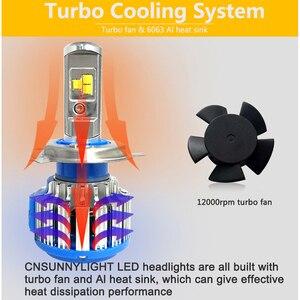 Image 5 - CNSUNNYLIGHT H4 Hi/lo H7 H11 9006 רכב LED פנס 9005 HB3 HB4 H1 H13 גבוהה כוח סופר לבן 6000K נורות להחליף מנורה מקורית