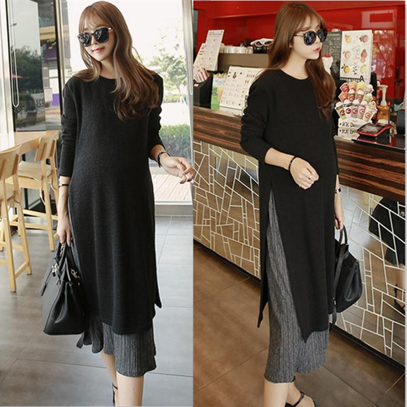 2018 Pregnant Dresses Autumn Dress Loose Large Size Long-sleeved Korean Maternity Dress For Pregnant Women Breastfeeding Clothes