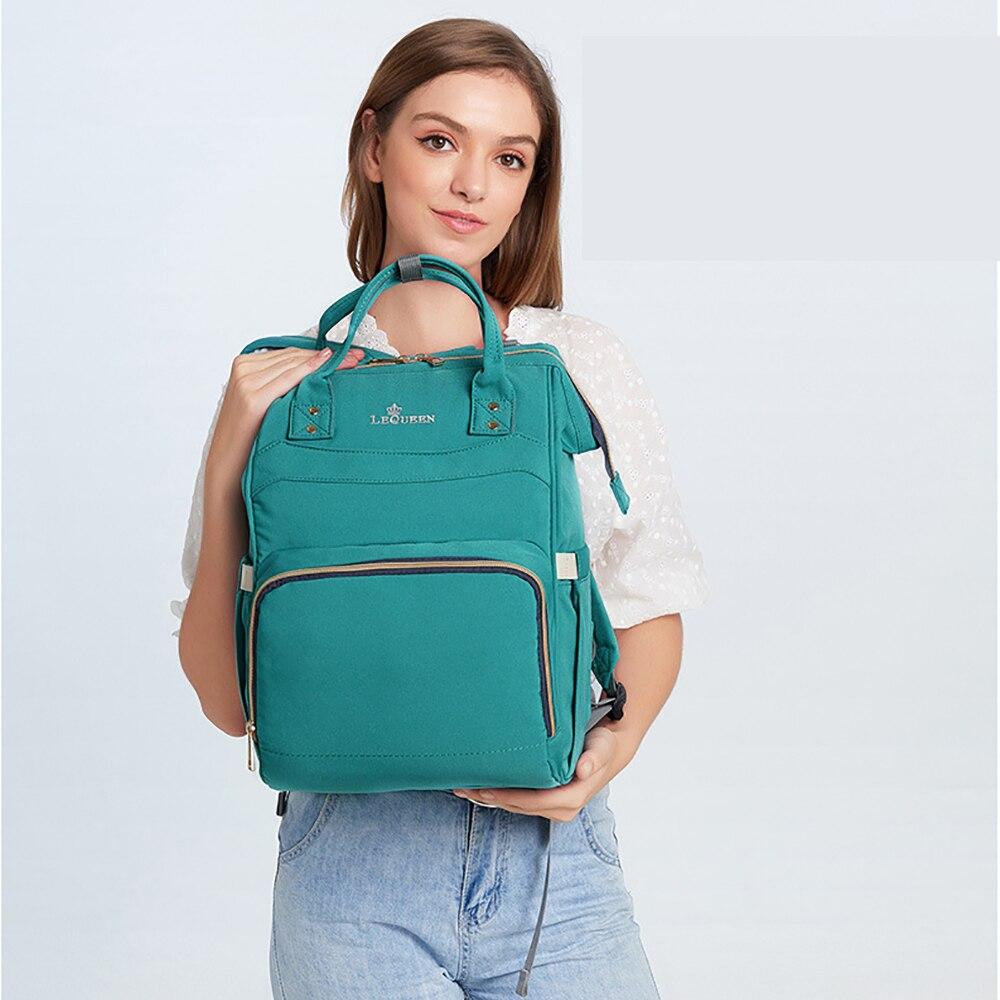 7  Color Lequeen Waterproof Diaper Bag Multifunction Nursing Bag Large Capacity Backpack Bag Baby Care Feeding Bottle Diaper Bag