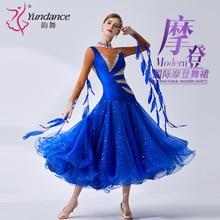 The new National standard modern dance clothing big pendulum dress practice clothing ballroom dancing Waltz B 19386