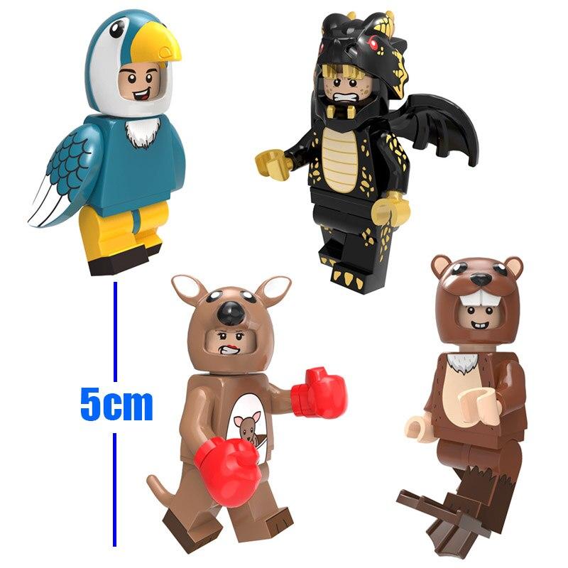 Зоопарк животное щенок Микки Ститч Русалка Единорог птица мини игрушка фигурка Кирпич игровой набор миниатюрный строительный блок совместим с Lego