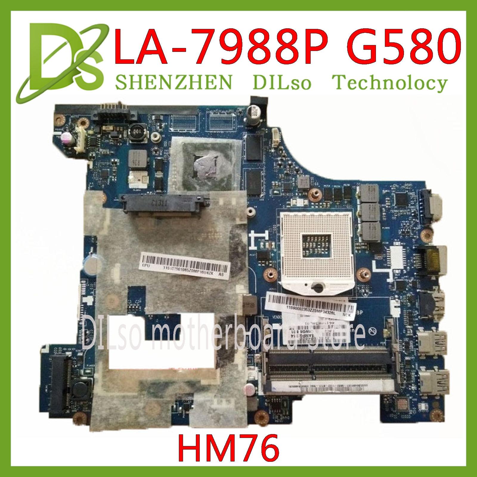 KEFU LA-7988P G580 Motherboard For Lenovo G580 LA-7988P REV:1.0 Laptop Motherboard HM76 Test Mainboard