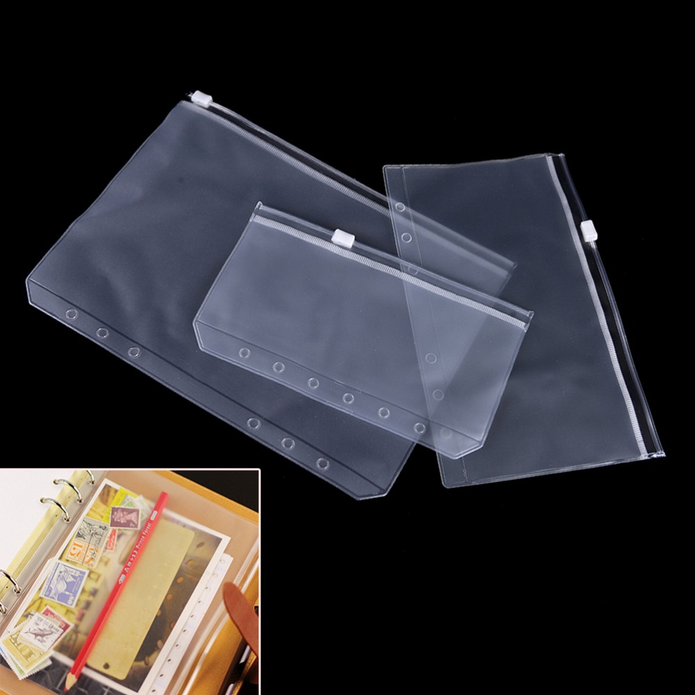Travel Accessories A5/A6/A7 Transparent Traveler Notebook Diary Planner Zipper Bag Filing Products