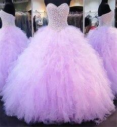 Quinceanera vestido 2019 querida bola cristal beading vestido de 15 anos bm175