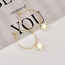 2020 Модные Новые блестящие простые милые маленькие серьги кольца
