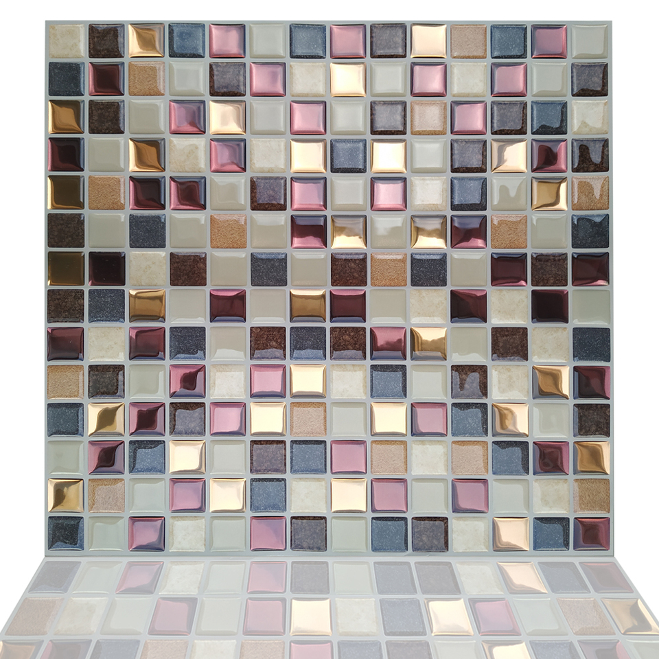- Fancytiles Waterproof Self Adhesive 3D Mosaic Wall Decal Peel And