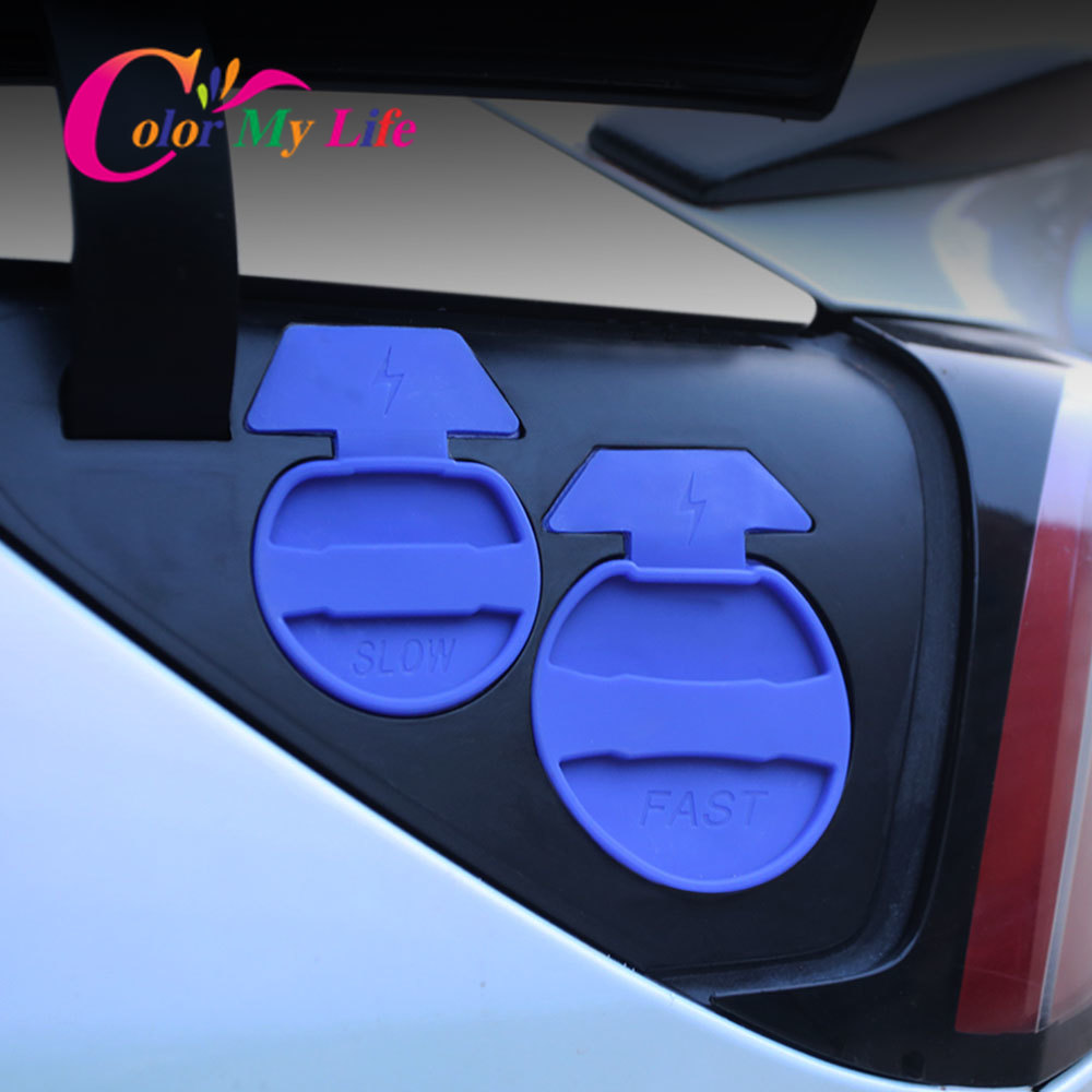 2Pcs Charging Port Silicone Protective Waterproof Dust Cover Car Charger Protection Cap for Tesla Model <font><b>3</b></font> Model3 <font><b>2016</b></font> - 2020 image