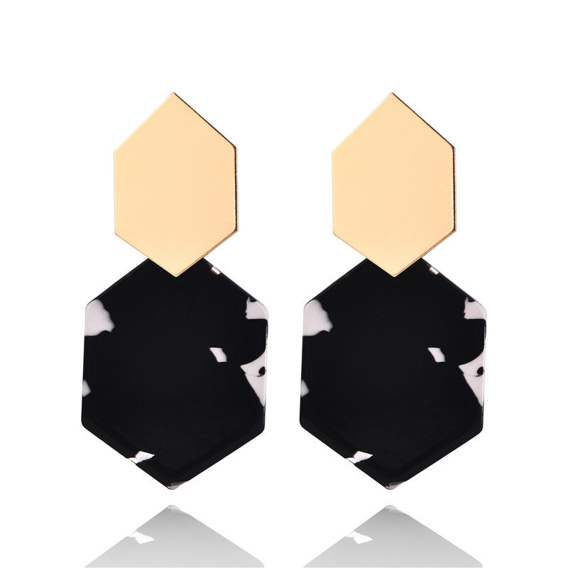 Fashion Earrings For Women Gold Metal Single Drop Dangle Earrings Vintage Statement Round Geometric Earring 19 Fashion Jewelry 5