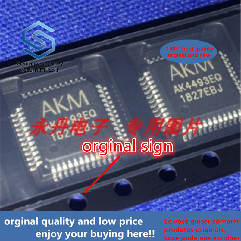 1-5pcs 100% Orginal New Best Qualtiy AK4493EQ AK4493 QFO 123dB 768kHz 2ch For DAC Free Shipping