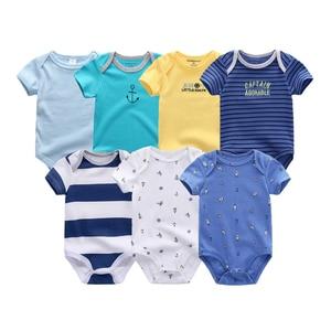 Image 3 - Uniesx Newborn Baby Rompers Clothing 7Pcs/Lot Infant Jumpsuits 100%Cotton Children Roupa De Bebe Girls&Boys Baby Clothes