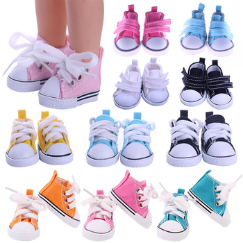 5Cm Doll Canvas Shoes For 14.5 Inch Nancy American Doll&BJD EXO Doll&32-34Cm Paola Reina Doll Our Generation Girl Toy Russia DIY image