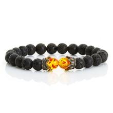 High Quality Men Bracelet Natural Stone Lava Beaded Couple K