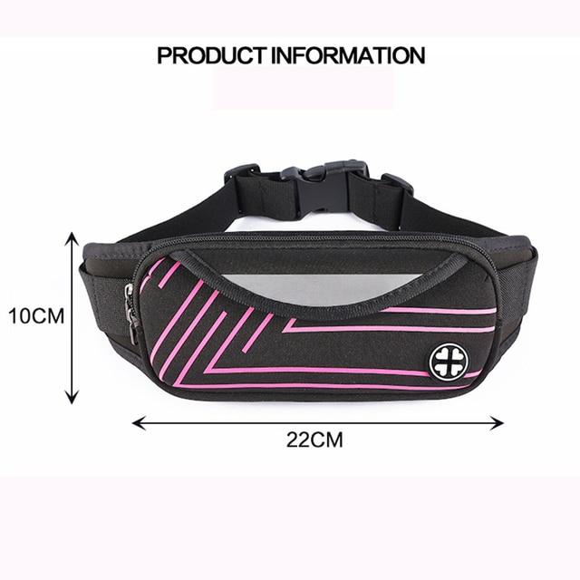 Unisex Waterproof Running Waist Bag Sport Waist Pack Mobile Phone Holder Bag Gym Fitness Bag Sport