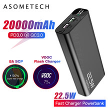 20000mAh Power Bank USB C PD Schnelle Quick Charge 3,0 5A Power Digital Display Tragbare Externe Batterie Super Schnelle ladegerät(China)