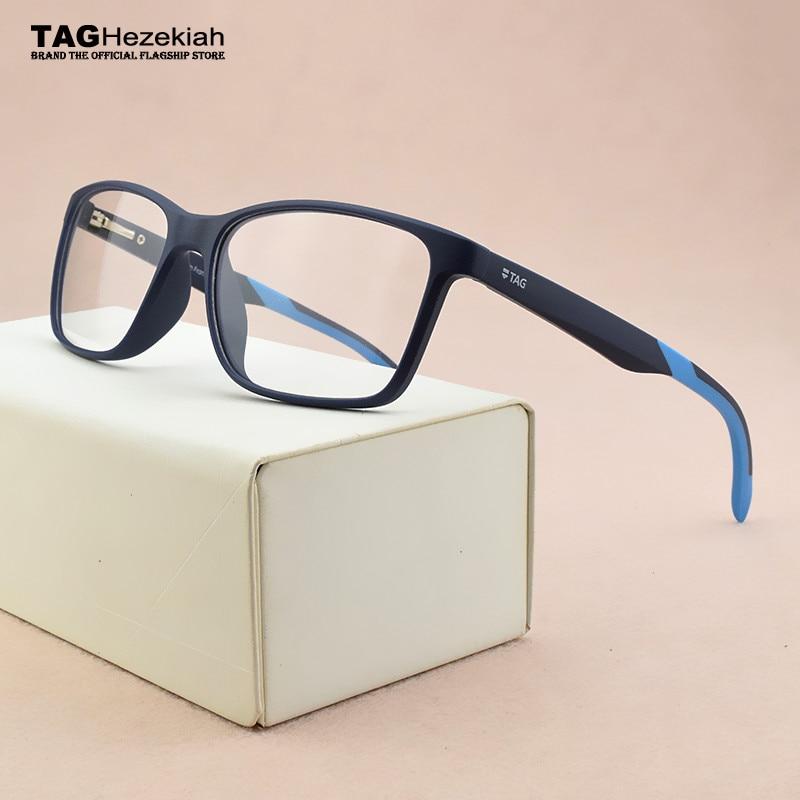 2019 TAG Brand TR90 Glasses Frame Men Myopia Computer Spectacle Frames Women Ultra Light Square Eye Glasses Frames For Men Th555