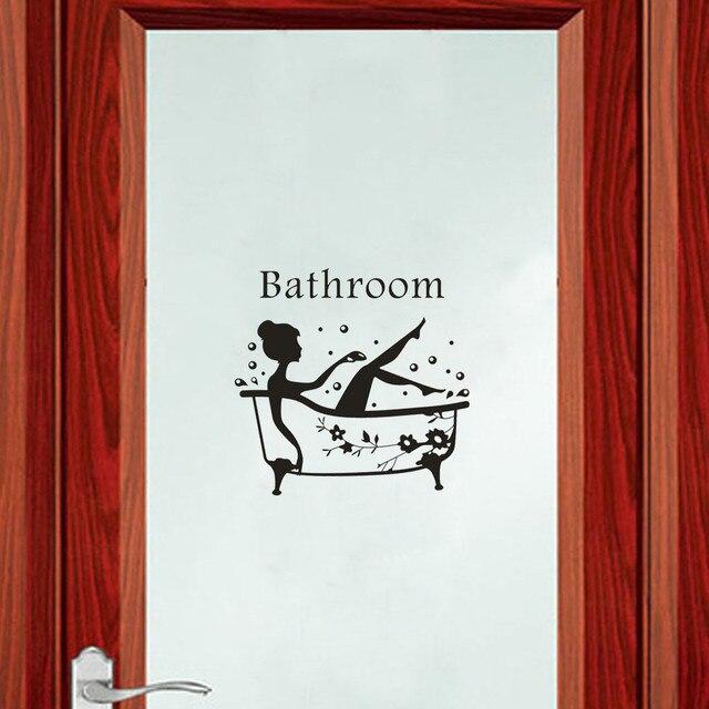 Door Sticker Mobile Creative Wall Affixed With Decorative Wall Window Decoration Bathroom Door Deco Women наклейка на дверь X1 3