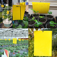 10/20/30 pces armadilhas pegajosas amarelas de dupla face para insetos da planta de vôo m0826