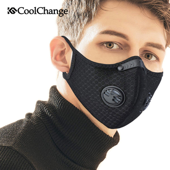CoolChange PM2.5 Sport Mask Anti-pollution Running Cycling Dust Mask With Filter MTB Bicycle Bike Face Mask