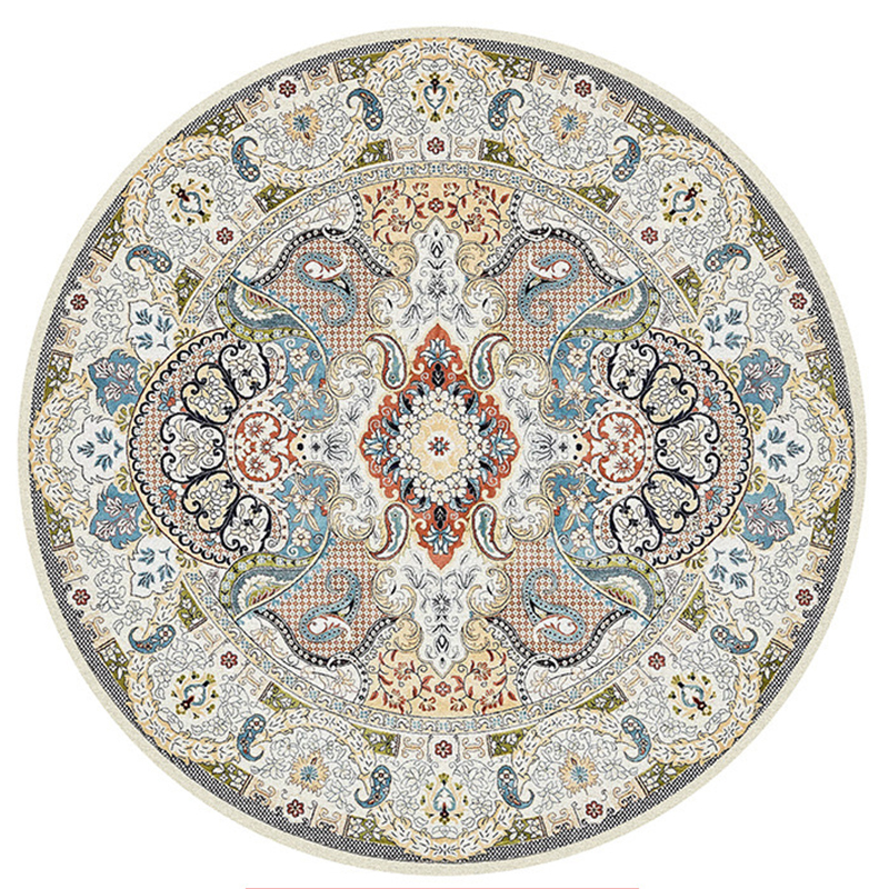 Morocco Ethnic Round Carpet For Living Room American Bedroom Carpet Persian Vintage Chair Rugs Home Decor Floor Mat Study Carpet