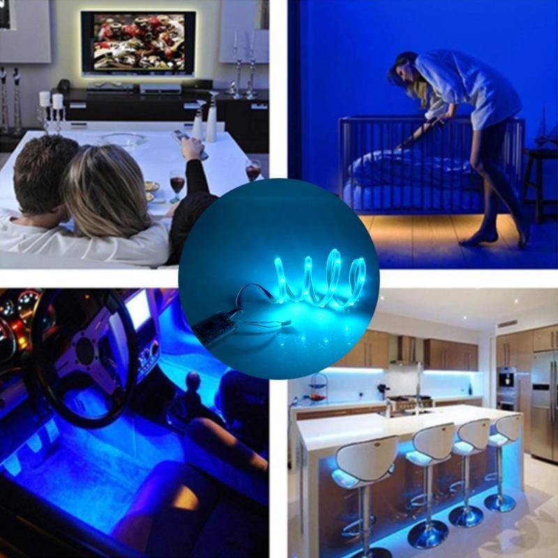 RGB LED Strip Light Waterproof TV Backlight Desktop Flexible Stripe Lamp Tape App And Button Switch Can Connect Operate