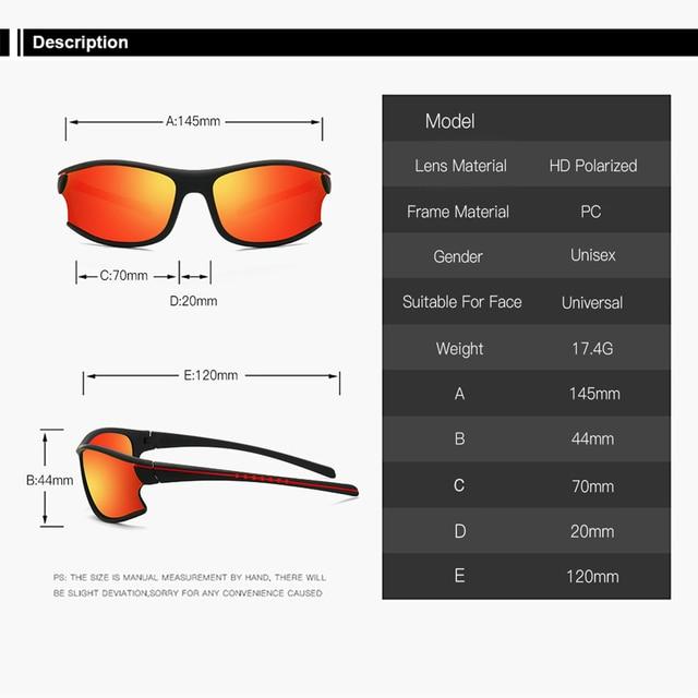 Polarizado ciclismo óculos de sol esportes ao ar livre pesca caminhadas ciclismo homem ciclismo óculos gafas ciclismo 6
