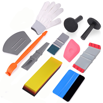 FOSHIO Car Vinyl Wrap Film Squeegee Scraper Tools Set Carbon Fiber Magnet Holders Car Sticker Wrapping Kit Auto Car Accessories treyues 30cmx1 2m 12 x 48 auto car light headlight taillight tint vinyl film sticker easy stick whole car decoration clear