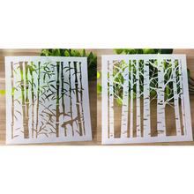 2pc DIY Reusable Plant Stencil For Wall Painting Scrapbooking Stamping Stencil Bullet Journ Embossing Paper Card Flower Template butterfly reusable stencil for scrapbooking stamping embossing paper card drawing template stencil crafts bullet journal stencil